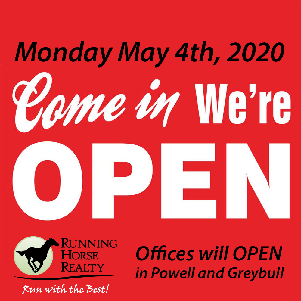 Open Sign Realtor Offices Open May 4th